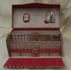 Great Sewing Box for Sale as a kit from France. Bravo.