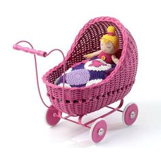 The stunning smallstuff powder doll pram is now available at mini nation. It's a beautifully crafted and functional wicker pram that will add style to any room. Dolls Prams, Bassinet, Baby Strollers, Pink, Toys, Children, Bed, Furniture, Home Decor