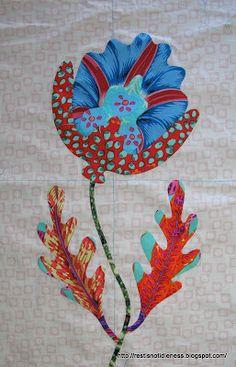 Kim McLean Down Under: Kim McLean flower Garden Applique Quilt Block Patterns, Applique Patterns, Applique Quilts, Quilt Blocks, Quilting Room, Quilting Projects, Quilting Designs, Hand Applique, Flower Applique