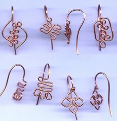Symbolic Jewelry Findings 5 Pairs Adinkra Ear by SoulofSomanya