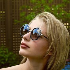 The lovely Alexandra Beaton wearing the Luci. Round Sunglasses, Sunglasses Women, The Next Step, Girls With Glasses, Famous People, Ale, Tv Series, Peeps, Wallpaper