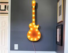 Do you often feel zoned out from the rest of the world because of the inherent rockstar in you? In that case, this 36″ Guitar by Vintage Marquee Lights is a must have for your room.