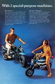 """Mi Suzuki RV 90 1977 (Rover o Van Van) en Chile se le conoció como """"oruga"""" o """"arenera"""". Excelente moto clásica precursora de los atc y de los actuales quadras y atv. La compré en 1992. Pueden ver la mía en http://suzukirv90.blogspot.com o paseando por Maitencillo. :)"""