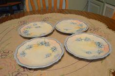 Antique O & EG Royal Austria Porcelain Signed Hand Painted Forget-Me-Nots Blue Florals Plate by BigBlossomAntiques on Etsy