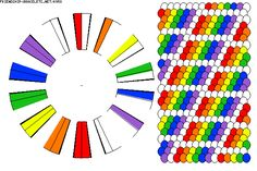 Rainbow kumihimo - friendship-bracelets.net I'm making this one right now but with black instead of white!