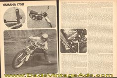 1975 Yamaha MX175B Road Test 6-Page Article