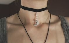 I love chokers. Especially ones with charms and moons and stones on them
