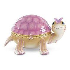 Strength Crystal Cuties Turtle Figurine Bradford Breast Cancer Awareness