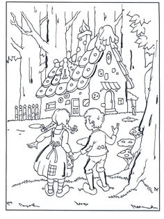 Hansel et Gretel CM, cycle 3 Coloring Pages For Grown Ups, Cartoon Coloring Pages, Colouring Pages, Free Coloring, Coloring Pages For Kids, Adult Coloring, Coloring Books, Hansel Y Gretel Cuento, Drawing For Kids