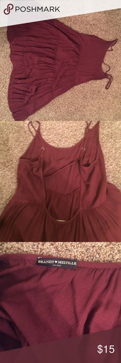 Brandy Melville Maroon Dress A perfect summer addition to your closet! It has a strappy back. Brandy Melville Dresses