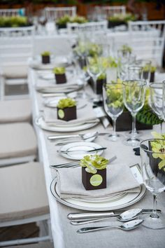 We're in love with this classic table setting at a Turks & Caicos beach wedding at Beaches Resort! {Davina + Daniel Photography}