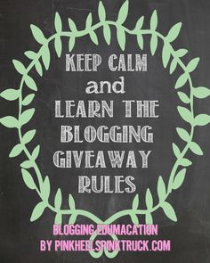 Blogging Edumacation: Blog Giveaway Rules