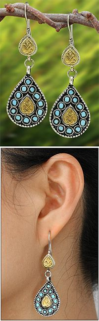 Afghan+Celebration+Earrings+at+The+Hunger+Site #FairTuesday Gifts for moms, sisters, aunts, and friends.