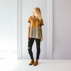 Jeans, booties and fall tops! Get them all in our store!! (Top and pants also available online) Remember today is the last day to enter the back to school giveaway. Good luck!