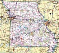 Physical Map Of The United States With Main Geographycal Features - Highway map of missouri