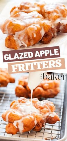 recipe Make the ultimate homemade apple fritters in 30 minutes! This easy recipe uses a few basic ingredients. Your friends and kids will love this amazing fried treat! Save this handy pin! Apple Fritter Recipes, Apple Dessert Recipes, Donut Recipes, Fudge Recipes, No Bake Desserts, Easy Desserts, Gourmet Recipes, Cookie Recipes, Delicious Desserts