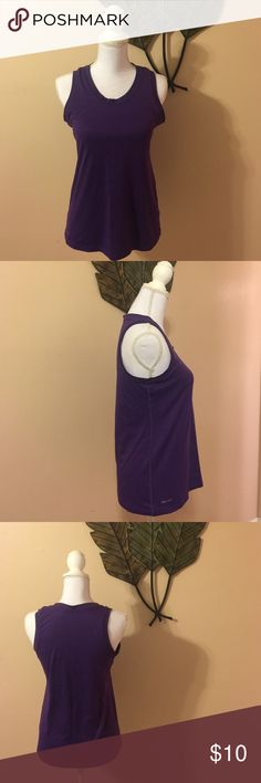 """Nike Dri-Fit tank Beautiful royal purple color!  In fantastic used condition. No stains, rips, etc. 100% polyester. Fits close to the body, but not snug. Measures 15.5"""" from underarm to bottom hem. Nike Tops Tank Tops"""