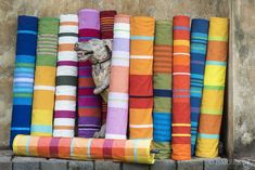 BAREFOOT Pvt. Ltd. Rolls of hand woven cloth designed by BAREFOOT