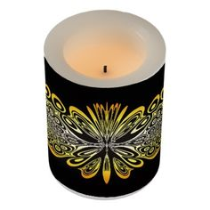Lace Pattern Flameless Candle - lace gifts style diy unique special ideas