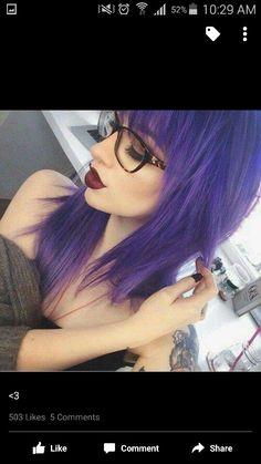 Amethyst Tones - Purple Hairstyles That Will Make You Want Mermaid Hair - Photos Pastel Hair, Purple Hair, Violet Hair, Corte Y Color, Coloured Hair, Dye My Hair, Mermaid Hair, Mermaid Makeup, Rainbow Hair