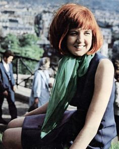 Cilla Black, 1967, style, fashion, 60s, music, bob, red hair, ginger, fringe, hairstyle