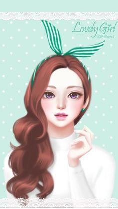 gambar art, sweet, and art girl Cute Kawaii Girl, Cute Cartoon Girl, Girly M, Girly Pics, Big Eyes Artist, Lovely Girl Image, Cute Girl Wallpaper, Digital Art Girl, Cute Cartoon Wallpapers