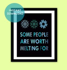 "Frozen Printable Quote Instant Download, 2 Colors, 8""x10"", Frozen Art Poster/Art Print"