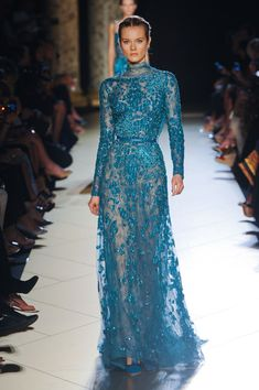 I like this but I think it'd be better without the neck part. Elie Saab Fall/Winter Couture 2012/2013