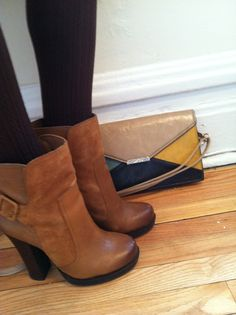 Victoria's a Shoe a Day: Jessica Simpson Booties & Colorblock Clutch