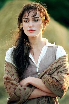 British and talented Keira Knightley as Elizabeth Bennet, Pride & Prejudice