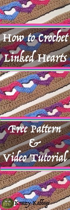 How to crochet linked hearts free pattern – Krazykabbage