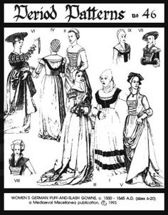 1774 best my patterns images in 2019 simplicity sewing patterns Traditional German Dirndl Dresses pp46 woman s german puff and slash renaissance sewing pattern by periodpatterns