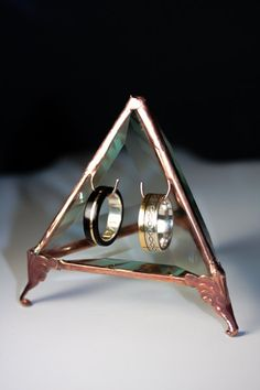 Wedding Engagement Ring Double Hook Pyramid Jewelry by PhilipCrow