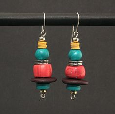 Faux coral earrings by DorothySiemens, via Flickr