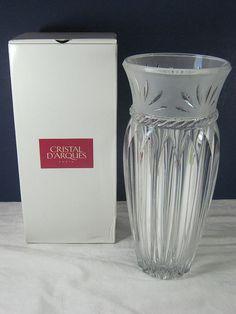 Vintage French Vase Lead Crystal Vase NIB   by LavenderGardenCottag