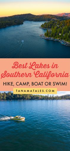 Best Lakes in Southern California | Lakes for walking, hiking, biking, boating, fishing, camping, swimming, and other water activities in Los Angeles, Orange County, San Diego, Ventura, and Santa Barbara | Swimming in Los Angeles | Swimming in San Diego | Boating in Los Angeles | Boating in San Diego | Camping in Los Angeles | Camping in San Diego | Fishing in Los Angeles | Fishing in San Diego | Santa Barbara Outdoor | Big Bear | Lake Arrowhead | Los Angeles Outdoor | San Diego Outdoor California Lakes, California Places To Visit, California Destinations, Us Travel Destinations, Best Places To Travel, California Travel, Southern California, Usa Travel Guide, Travel Usa