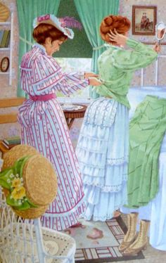 """""""Anne of Green Gables"""" Art by M.Claus - Written by Lucy Maud Montgomery - A Story/Tales From Canada Anne Shirley, Green Gables Fables, Road To Avonlea, Anne With An E, Prince Edward Island, Illustrations, Period Dramas, Miniature, Fan Art"""