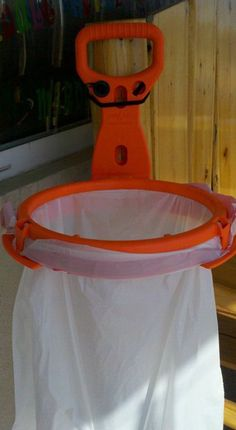 Bag-A-Lot portable and flexible garbage bog holder. Excellent idea for camping.