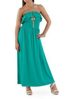 dots: Ruffle Top Tube Maxi Dress ... $20.00