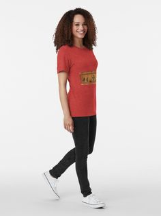 Red vintage shirt with fashion art. Simple art in shirts. Shop cute shirts for women, teens, and girls. It's a shirt artwork for tees. Vintage T-shirts, Looks Vintage, Jazz, T-shirt Humour, Funny Humor, Oldschool, Urban, Boutique, Black Girls