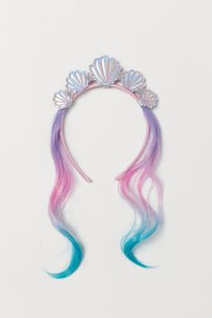 Alice band and hair extensions - Light pink - Kids Little Girl Toys, Baby Girl Toys, Toys For Girls, Mermaid Hair Extensions, Extensions Hair, Eyelash Extensions, Bright Summer Acrylic Nails, Mermaid Tails For Kids, Mermaid Dress For Kids