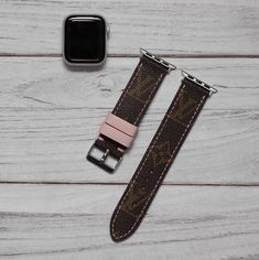 Apple Watch Band L.V, Apple watch band for series 1 2 3 4 Luxury Apple Watch Band, Louis Vuitton Keychain, Louis Vuitton Watches, Real Louis Vuitton, Cute Apple Watch Bands, Apple Watch Bands Fashion, Apple Watch Accessories, Tech Accessories, Girly Car, Air Pods