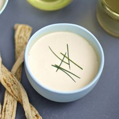 Raw veggies, bread sticks, crunchy chips, or asparagus fries - whatever you're planning on dipping, this homemade Soy Mustard Yoghurt Dip is the way to go.