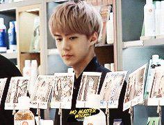 EXO-K Sehun. Uwaa~ He's so cute everytime he does that. :3