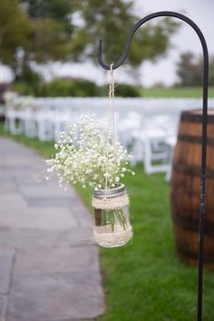 Shabby Chic Simple Ceremony Decor