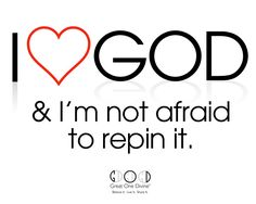 Help us share our faith all over Pinterest! We're not afraid to pin it :)