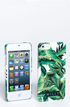 Tropical, breezy banana leaf iPhone case by Milly. Love!