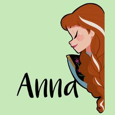 """""""#Anna from #Frozen was this days lunch #doodle. #drawing #Disney #girlsinanimation"""""""