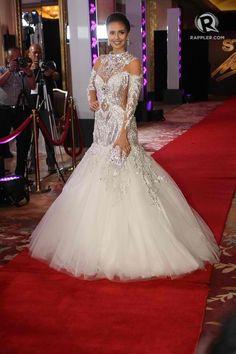 Best Dressed: 15 stunning outfits at Star Magic Ball 2014 Marchesa Wedding Dress, Wedding Gowns, Elegant Dresses, Nice Dresses, Star Magic Ball, Miss Pageant, Megan Young, September, Filipina Beauty