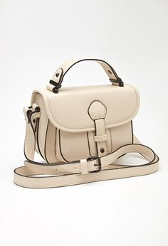 Faux Leather Crossbody Satchel | FOREVER21 - 1000136737 (hint hint)